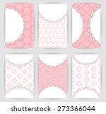 collection of vector card... | Shutterstock .eps vector #273366044