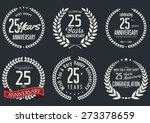 anniversary label collection ... | Shutterstock .eps vector #273378659