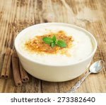 vanilla rice pudding with... | Shutterstock . vector #273382640