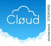 cloud computing | Shutterstock .eps vector #273392903