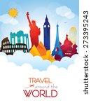 travel around the world | Shutterstock .eps vector #273395243