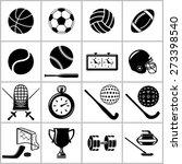 Monochromatic Icons Set Of ...