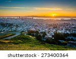 sunrise view from twin peaks ...   Shutterstock . vector #273400364