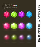 vector set of colorful gems for ...