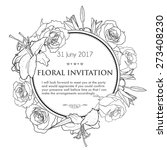 vintage invitation card with... | Shutterstock .eps vector #273408230