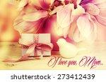 bouquet of beautiful pink... | Shutterstock . vector #273412439