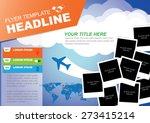 vector brochure flyer design... | Shutterstock .eps vector #273415214