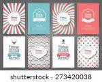 Set of brochures in vintage style. Vector design templates. Vintage frames and backgrounds. | Shutterstock vector #273420038