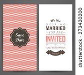 wedding invitation. vector... | Shutterstock .eps vector #273420200