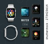 smart watch with different... | Shutterstock .eps vector #273423614