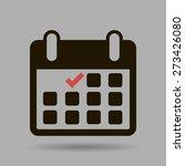 calendar flat icon   vector | Shutterstock .eps vector #273426080