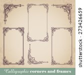 calligraphic corners and frames | Shutterstock .eps vector #273426659