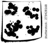 set grunge watercolor ink... | Shutterstock .eps vector #273428168