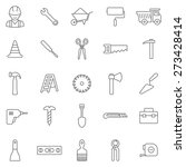 worker tool line icons set... | Shutterstock .eps vector #273428414