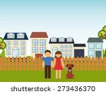 happy family design  vector... | Shutterstock .eps vector #273436370