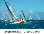 Постер, плакат: Sailing yachts regatta Series