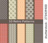 set of ten retro patterns | Shutterstock .eps vector #273439400