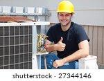 air conditioning repairman... | Shutterstock . vector #27344146