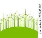 wind generator turbine clean... | Shutterstock .eps vector #273445730