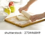 making dough for puff pastry | Shutterstock . vector #273446849