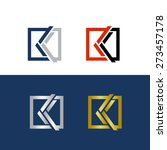 abstract and geometric letter k ... | Shutterstock .eps vector #273457178