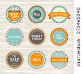 vintage labels template set ... | Shutterstock .eps vector #273460340