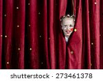 young blond girl with face... | Shutterstock . vector #273461378