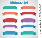10 ribbons design set for web... | Shutterstock .eps vector #273464246
