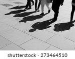 shadows of six walking... | Shutterstock . vector #273464510