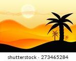 sunset in desert | Shutterstock . vector #273465284