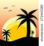sunset in desert | Shutterstock . vector #273465380
