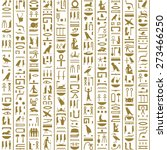 ancient egyptian hieroglyphs... | Shutterstock .eps vector #273466250