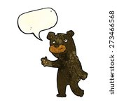 cute cartoon black bear with... | Shutterstock .eps vector #273466568
