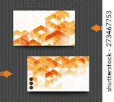 business card template with... | Shutterstock . vector #273467753