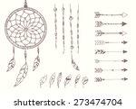 hand drawn native american... | Shutterstock .eps vector #273474704