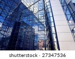 business building on blue sky... | Shutterstock . vector #27347536