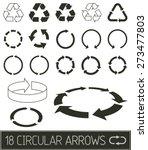 circular arrows in flat clean... | Shutterstock .eps vector #273477803