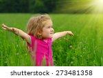 Cute Little Girl On The Meadow...