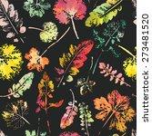 crazy beautiful watercolor... | Shutterstock .eps vector #273481520