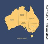 australia map with regions... | Shutterstock .eps vector #273482249