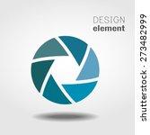shutter icon or logo design... | Shutterstock .eps vector #273482999
