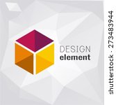 cube on polygon background logo ... | Shutterstock .eps vector #273483944