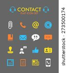 vector flat icon set   contact