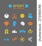 vector flat icon set   sport    Shutterstock .eps vector #273500198