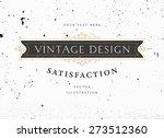 vintage frame for luxury logos  ... | Shutterstock .eps vector #273512360