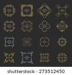 set of vintage frames for... | Shutterstock .eps vector #273512450