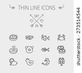 Food And Drink Thin Line Icon...