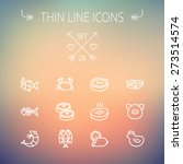 food and drink thin line icon... | Shutterstock .eps vector #273514574
