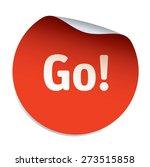 red vector sticker go | Shutterstock .eps vector #273515858