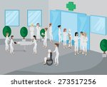 medical staff outside the... | Shutterstock .eps vector #273517256